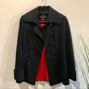 Black pea coat Miss Sixty XS